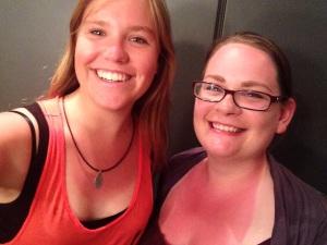 Bibi and I marveling at our epic sunburns.